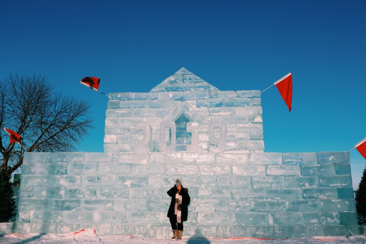 ice castle on green lake, spicer