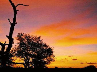 Sunset in Namibia Africa